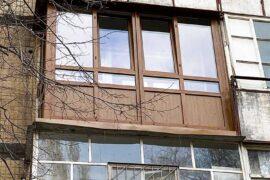 Скління французького балкона