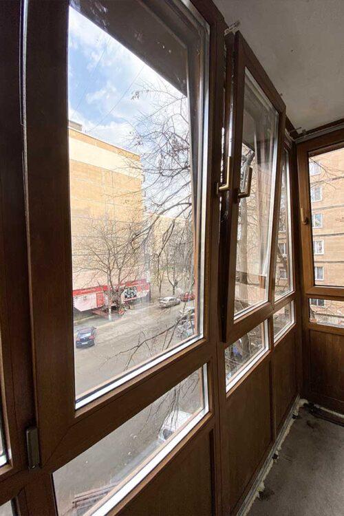 установка французского балкона - панорама окна