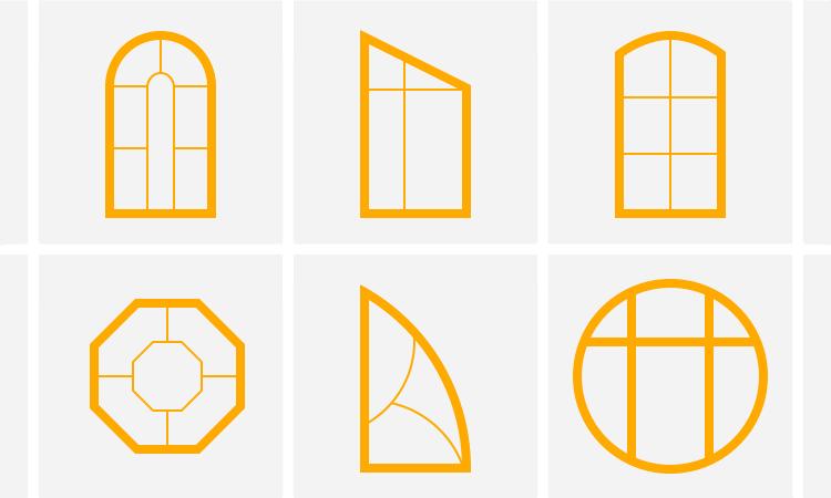 Нестандартные окна из профилей Rehau